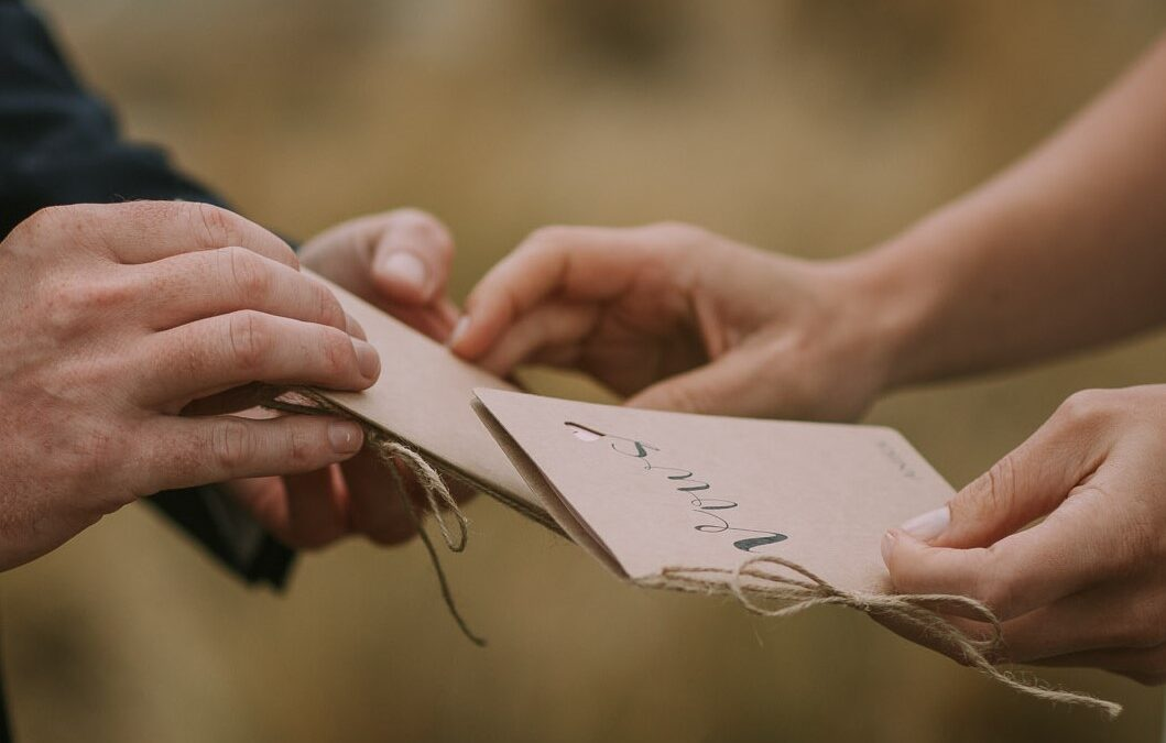How to write personal and meaningful vows to the love of your life.